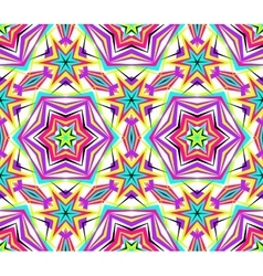 Thin Kaleidoscope Star Flower Pattern vector image