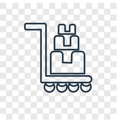 trolley concept linear icon isolated on vector image