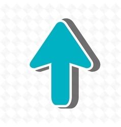 upload arrow design vector image