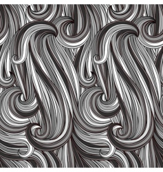 Vector seamless abstract monochrome pattern vector