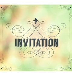 Vintage invitation frame vector image