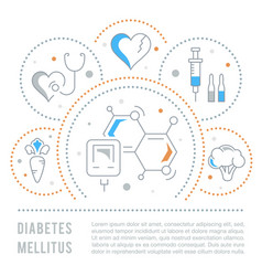 Website banner and landing page diabetes vector