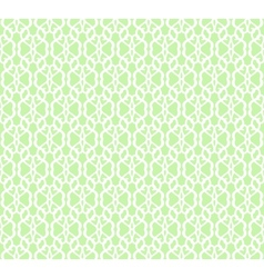 White Forged Seamless Pattern on green background vector image vector image
