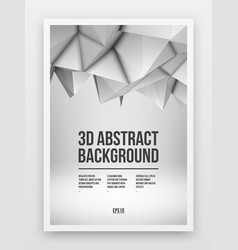 White poster template vector