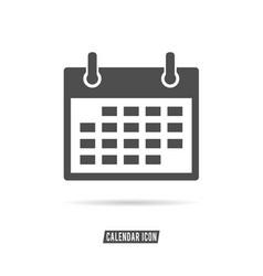 calendar icon black and white color vector image