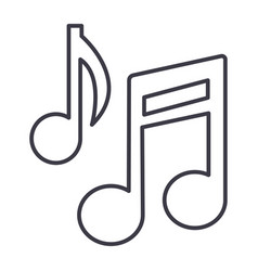 music note sign line icon sign vector image