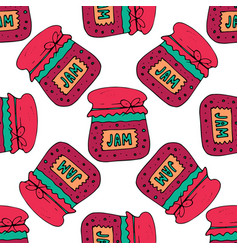 seamless pattern with jam marmalade vector image vector image