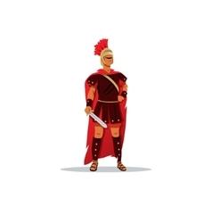 Spartan warrior in a helmet holding sword vector image vector image