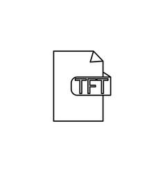 Tft format icon vector