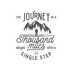 Wilderness quote typographic emblem vector image