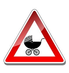 A warning sign baby vector image