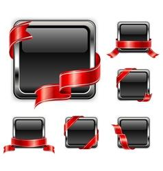 black square badge vector image