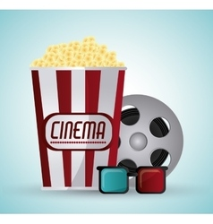 Cinema and Movie design vector image vector image