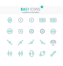 easy icons 10e exchange vector image vector image