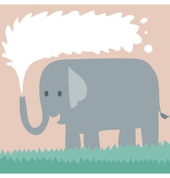 Elephant On Grass vector image vector image