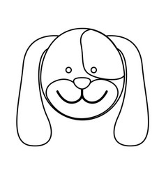 figure face dog icon vector image vector image