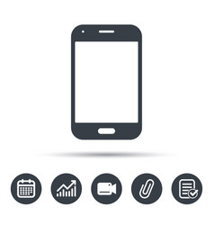 smartphone icon mobile phone communication vector image