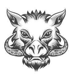 Boar head vector image