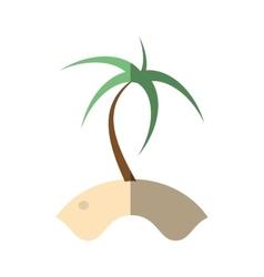 cartoon palm sand tropical beach shadow vector image