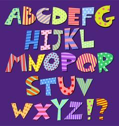 comic alphabet vector image vector image