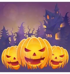 Creepy dark Halloween invitation card vector image vector image
