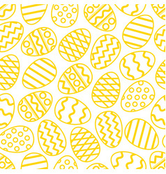 easter eggs green seamless pattern vector image