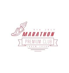 Marathon Premium Club Red Label Design vector image vector image