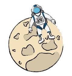 moon satellite isolated icon vector image
