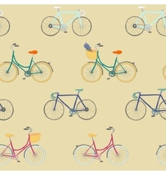 Perfect seamless pattern with colorful bikes vector image vector image