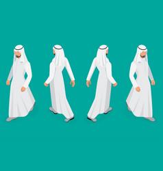 set of businessman arab man on white background vector image vector image