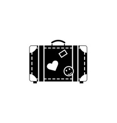 travel bag solid icon travel tourism vector image vector image