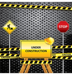warning signs grunge background vector image