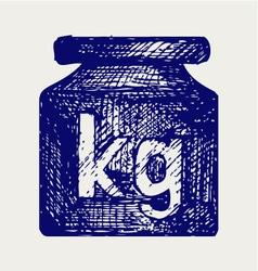Weight kilogram vector