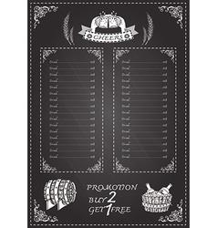 Beer festival document template vector