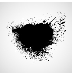 Black grungy design elements vector image