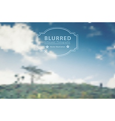 blurred with landscape mountains and clouds sky vector image