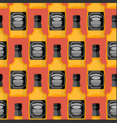 bottle of whiskey seamless pattern bourbon vector image