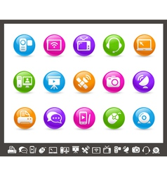 Communication Icons Rainbow Series vector image vector image