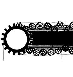 Gears banner vector
