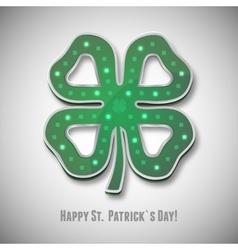 Irish shamrock saint patricks day icon vector image vector image