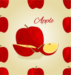 Seamless texture red apple fruit vector image vector image