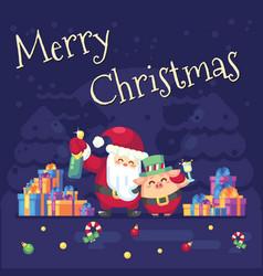 2019 new year merry christmas symbol santa claus vector image