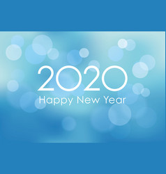 2020 new years card template vector