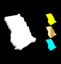 3d map of ghana vector