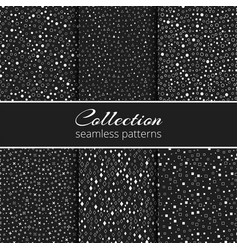 A set of monochrome geometric backgrounds vector