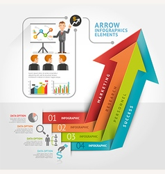 Abstract arrow infographics template vector image