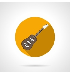 Acoustic guitar round color icon vector