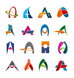 Alphabet letter a icon for business identity font vector