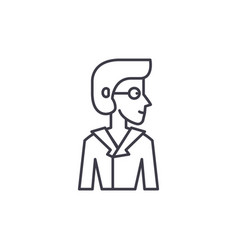 analyst line icon concept analyst linear vector image