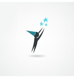 astronomer icon vector image